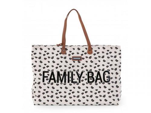 Childhome Cestovní taška Family Bag Canvas Leopard plátno