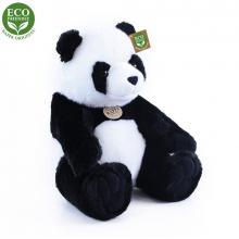 Rappa ECO-FRIENDLY plyšová panda sedící, 31 cm