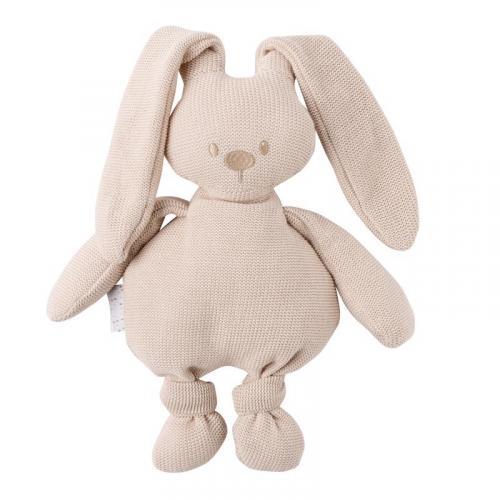 Nattou Hračka pletená bavlněná zajíček Lapidou cuddly beige 36 cm
