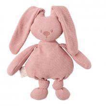 Nattou Hračka pletená bavlněná zajíček Lapidou cuddly pink 36 cm