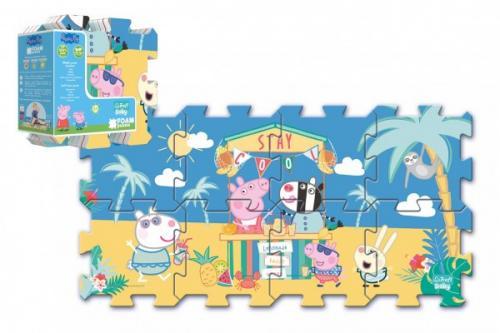 Trefl Pěnové puzzle Prasátko Peppa/Peppa Pig 32x32cm 8 ks v sáčku