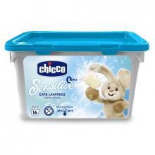 Chicco Prací prostředek gelové kapsle Sensitive, 16 ks