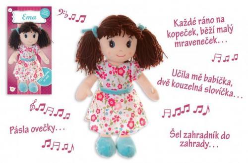 Teddies Panenka Ema hadrová plyš 40 cm česky mluvící a zpívající 0+