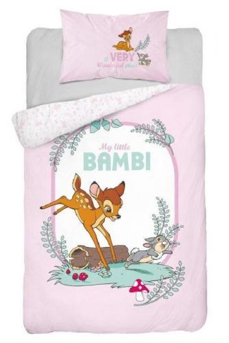 Detexpol povlečení do postýlky Little Bambi pink 135x100 cm