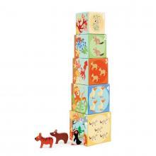 Scratch Pyramida s dřevěnými zvířátky