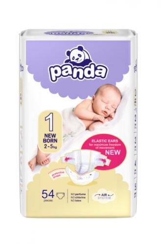 Panda Newborn (2-5 kg) 54 ks - jednorázové pleny