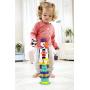 Skládací věž pro děti již od 18 měsíců. Věž je složená z několika různých částí ve tvaru zvířátek a kelímků.