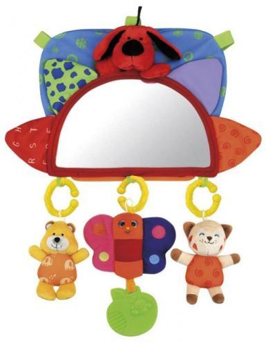 K´s kids Baby návlek na opěrku se zrcátkem a závěsnými hračkami
