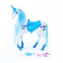 Rappa Česací modro-bílý kůň se zvukem a světlem