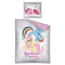 Detexpol Bavlněné povlečení My Little Pony grey 140x200 cm