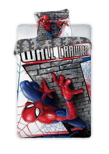 Faro Bavlněné povlečení Spiderman zeď 140x200 cm