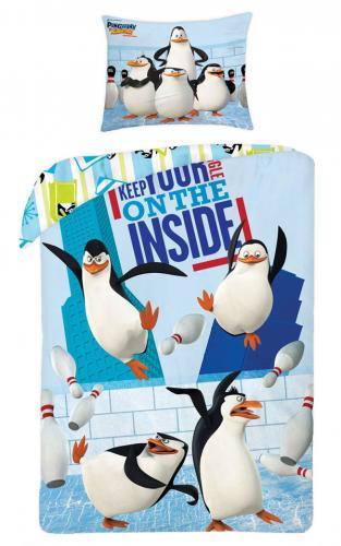 Halantex Bavlněné povlečení Tučňáci z Madagaskaru Inside 140x200 cm