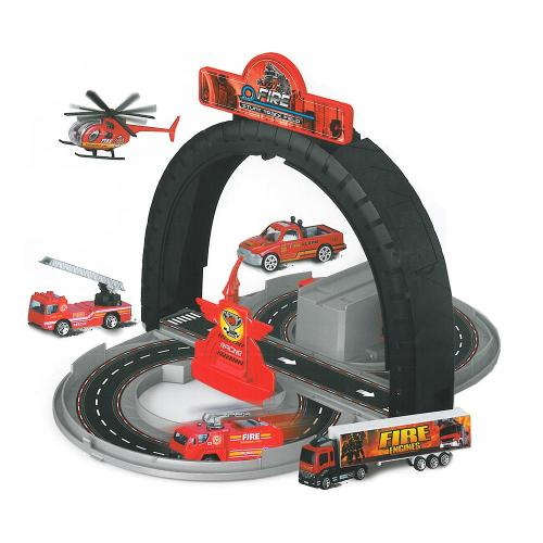 Rappa Dráha rozložitelná hasiči s kovovými auty