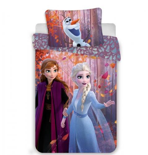 Jerry Fabrics Bavlněné povlečení Frozen Ledové Království 2 Sister Purple 140x200 cm