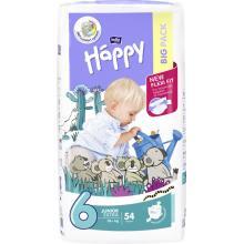 Bella Happy Junior Extra (16+ kg) Big Pack 54 ks - jednorázové pleny
