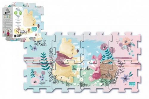 Trefl Pěnové puzzle Medvídek Pú 32x32x1cm 8ks v sáčku