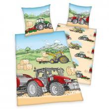 Herding Bavlněné povlečení Traktor 140x200 cm