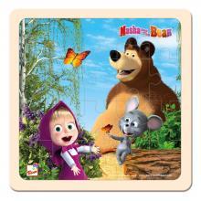 Bino puzzle Máša a Medvěd s myškou 20x20 cm