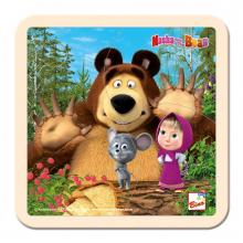 Bino puzzle Máša a Medvěd s myškou 15x15 cm