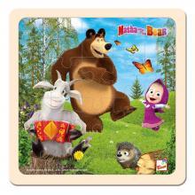 Bino puzzle Máša a Medvěd s kozlíkem 20x20 cm