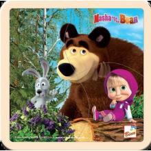 Bino puzzle Máša a Medvěd se zajícem 15x15 cm