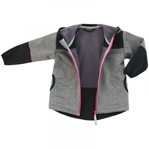 Esito Dětská softshellová bunda růžová