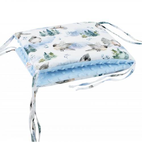 Esito Luxusní mantinel do postýlky MINKY Ptáčci modrá