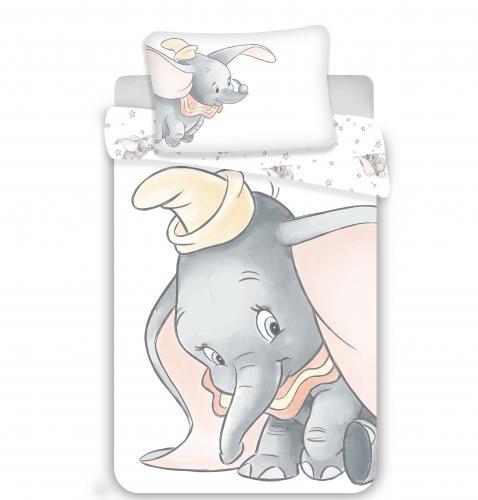 Jerry Fabrics povlečení do postýlky Dumbo Grey baby 135x100 cm