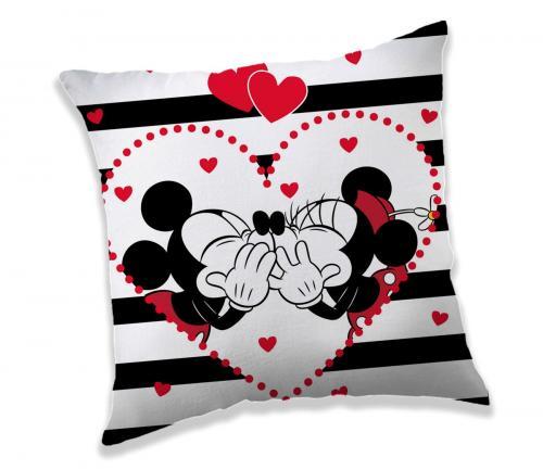 Jerry Fabrics polštářek Mickey a Minnie Stripes 40x40 cm