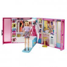 Mattel Barbie šatník snů s panenkou