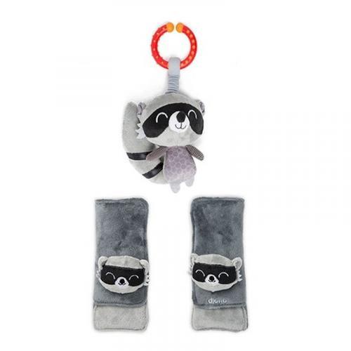 Diono chránič pásu Soft Wraps™ & Toy Racoon