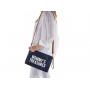 Praktický doplněk k přebalovací tašce i samostatně využitelná taštička do ruky či přes rameno.