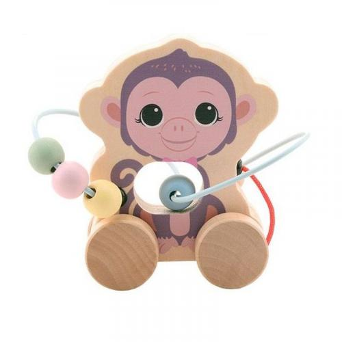 Jouéco The Wildies Family dřevěná hračka s labyrintem Monkey 12m+