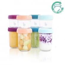 Babymoov Skleněné misky s víčky MULTISET (4x120 ml + 4x240 ml)