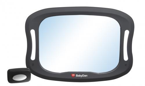 BabyDan Nastavitelné zpětné zrcadlo do auta s LED osvětlením