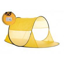 Teddies Stan plážový samorozkládací žlutý polyester/kov v látkové tašce 140x70x62 cm