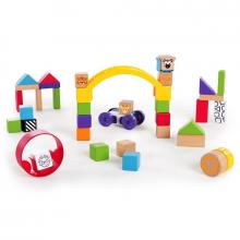 Baby Einstein Hračka dřevěná stavebnice Curious Creations Kit HAPE 12m+