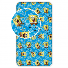 Jerry Fabrics prostěradlo Sponge Bob Blue 90/200 cm