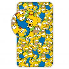 Jerry Fabrics prostěradlo The Simpsons family Green 90/200 cm