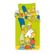 Jerry Fabrics Bavlněné povlečení The Simpsons family Green, 140x200 cm