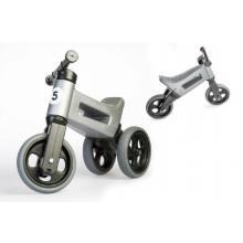 Teddies Odrážedlo šedé FUNNY WHEELS Rider Sport 2v1 18m+ v sáčku