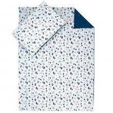 Esito Dětské povlečení Myšky modrá JERSEY 135x100 cm