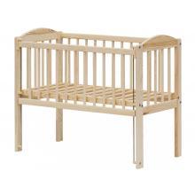 Scarlett Dětská postýlka k posteli rodičů BABY ECO stahovací bok, borovice