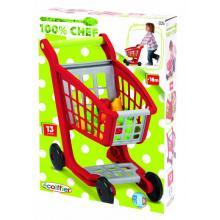 Ecoiffier Nákupní vozík s příslušenstvím