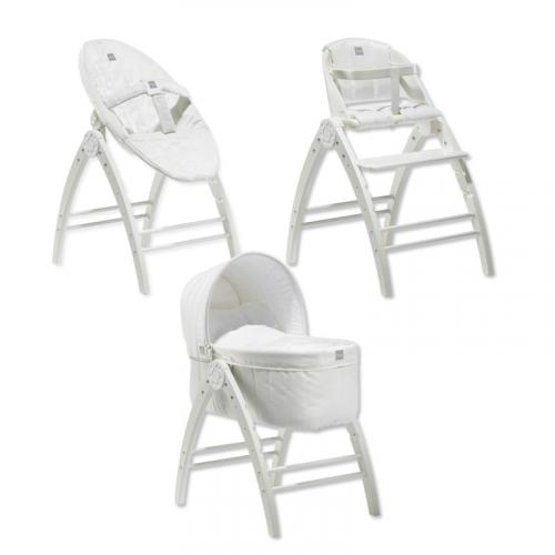 Jídelní židlička + kolébka + lehátko BabyDan Angel - designová sada 3v1