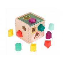 B-Toys Kostka dřevěná s vkládacími tvary Wonder Cube
