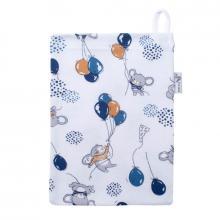 Esito Žínka bavlna úplet Jersey Myšky modrá