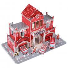 Fiesta Crafts 3D puzzle - Hasičská stanice