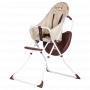 Dětská vysoká skládací jídelní židlička s podnosem a 5 bodovým bezpečnostním pásem.
