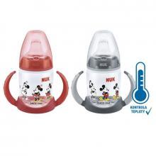 Nuk First Choice láhev na učení Mickey Mouse s kontrolou teploty 150 ml, 6-18m